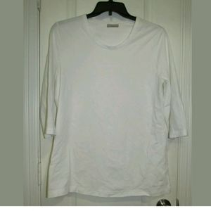 M Earthaddict White 3/4 Sleeve Top Size 42